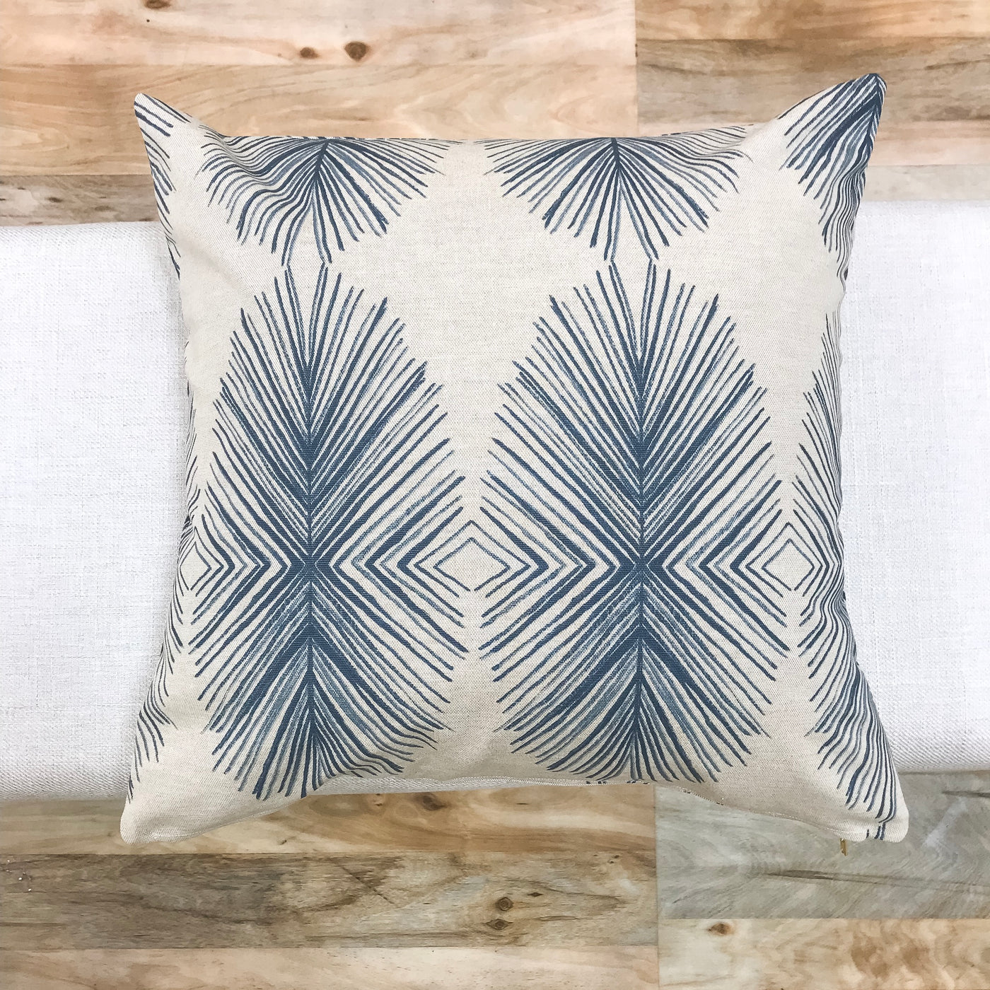 Essential blue ikat pillow - PABLO - Studio Pillows