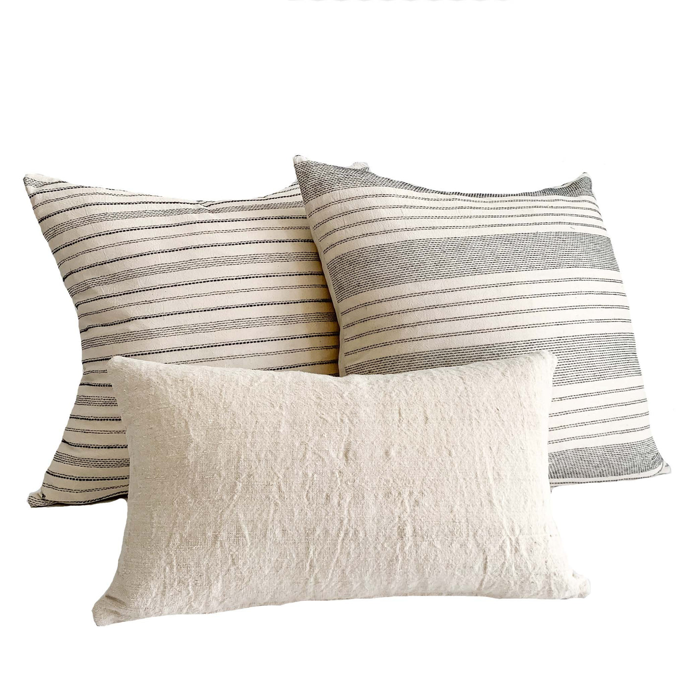 Studio Pillows | Pillow Combination #7 | Antique French Linen & Vintage Pillows - Studio Pillows