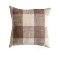 French Laundry Pillow | Java Brown Check Pillows - Studio Pillows