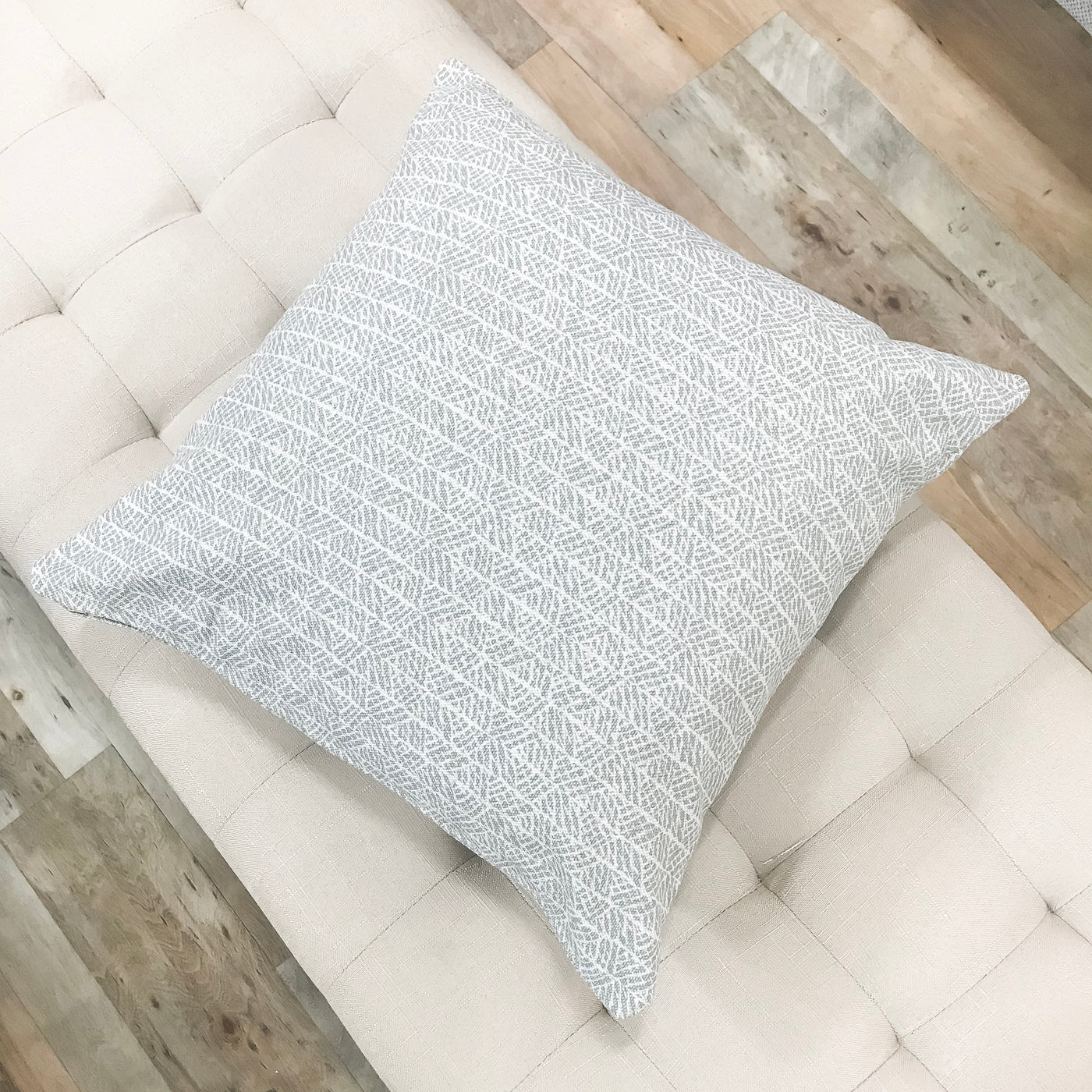 Uniquely stylish gray throw pillows - SIMONE - Studio Pillows
