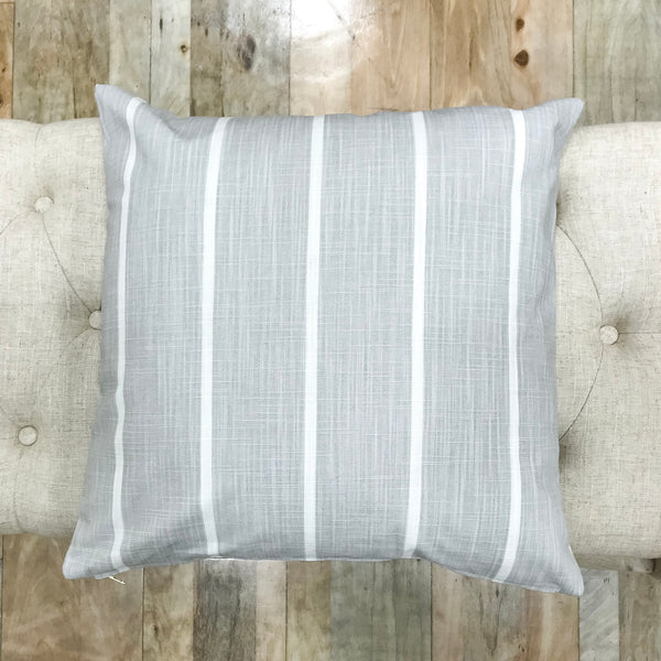 French gray stripe pillows - ALBA - Studio Pillows