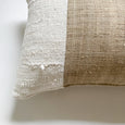 Vintage Hmong Hemp With Authentic White Mud Cloth Lumbar - Studio Pillows