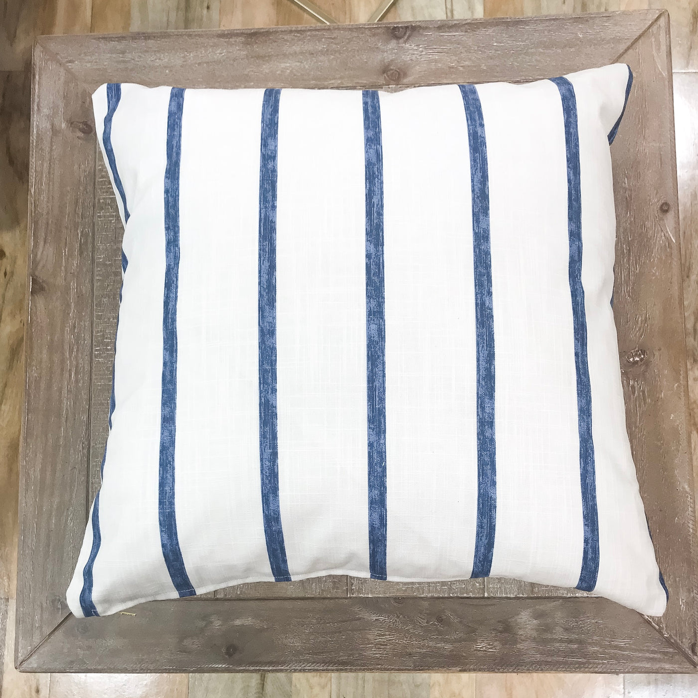 Cool, crisp blue stripe pillows - IVY - Studio Pillows