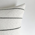 Timeless Black and White Stripe Pillow | DORIS - Studio Pillows