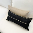 Textured Black Stripe Pillow - Birch