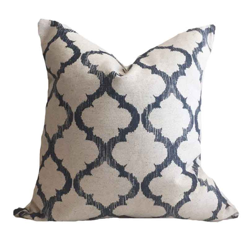 Navy Tile Pillow Cover - Hudson - Studio Pillows