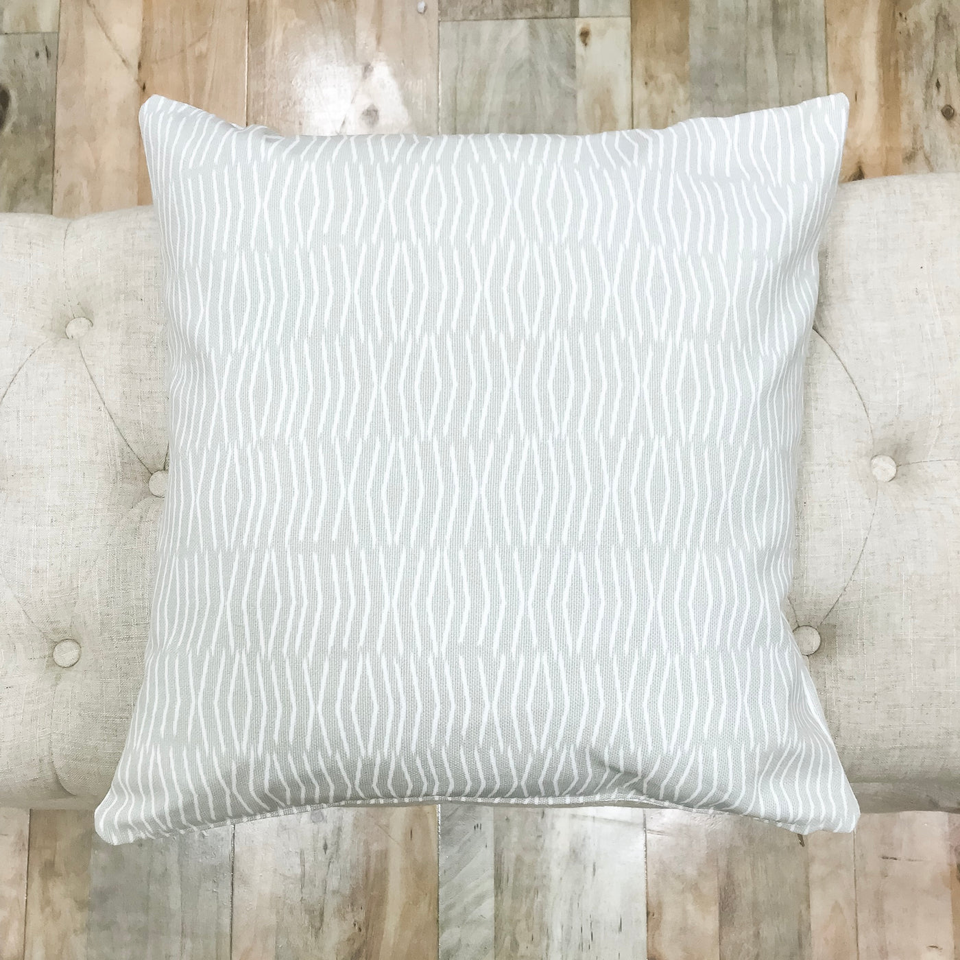 Elevated light gray throw pillows - PHIL - Studio Pillows