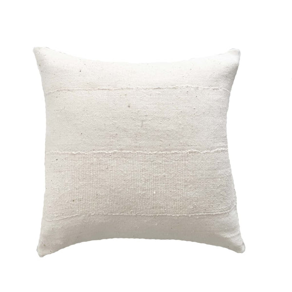 Authentic white mud cloth pillows - Studio Pillows