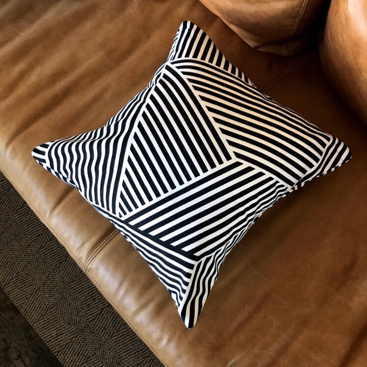 Geometric black and white pillows - GEORGIA - Studio Pillows