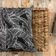 Palm leaf black and white outdoor pillows - Studio Pillows