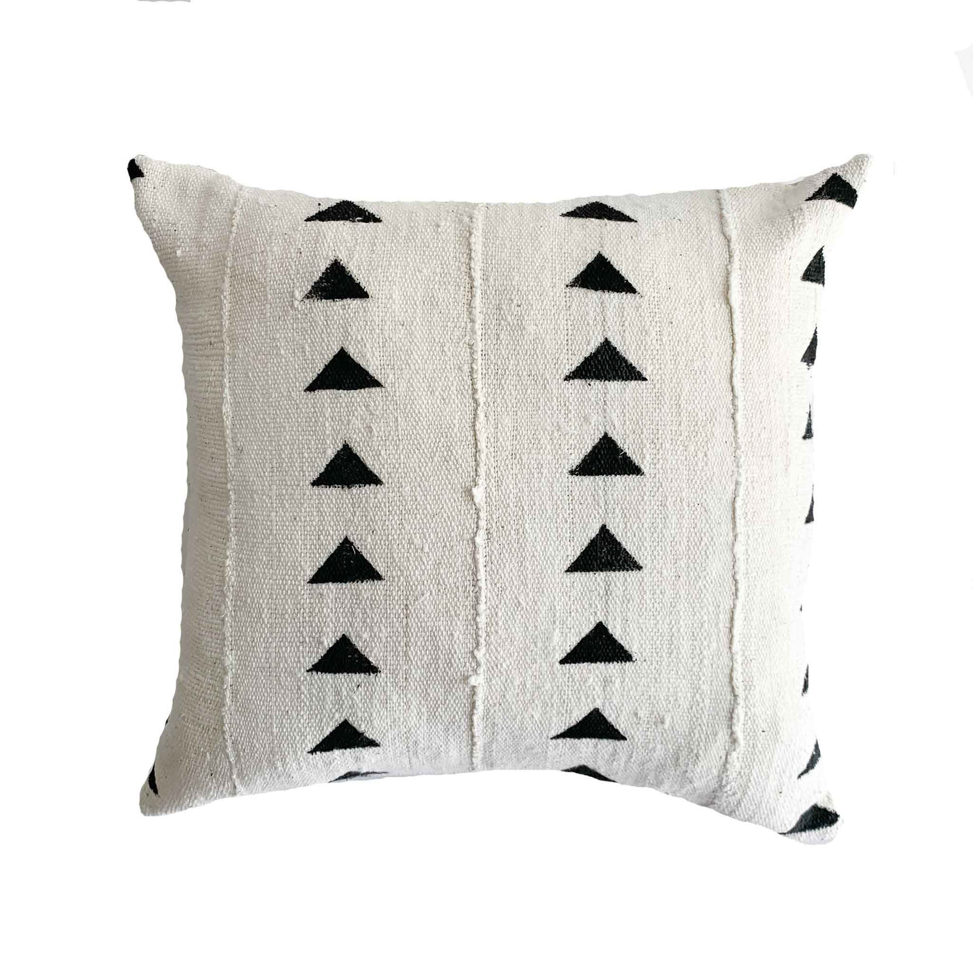 Authentic Mud Cloth | Triangle, Black and White - Studio Pillows