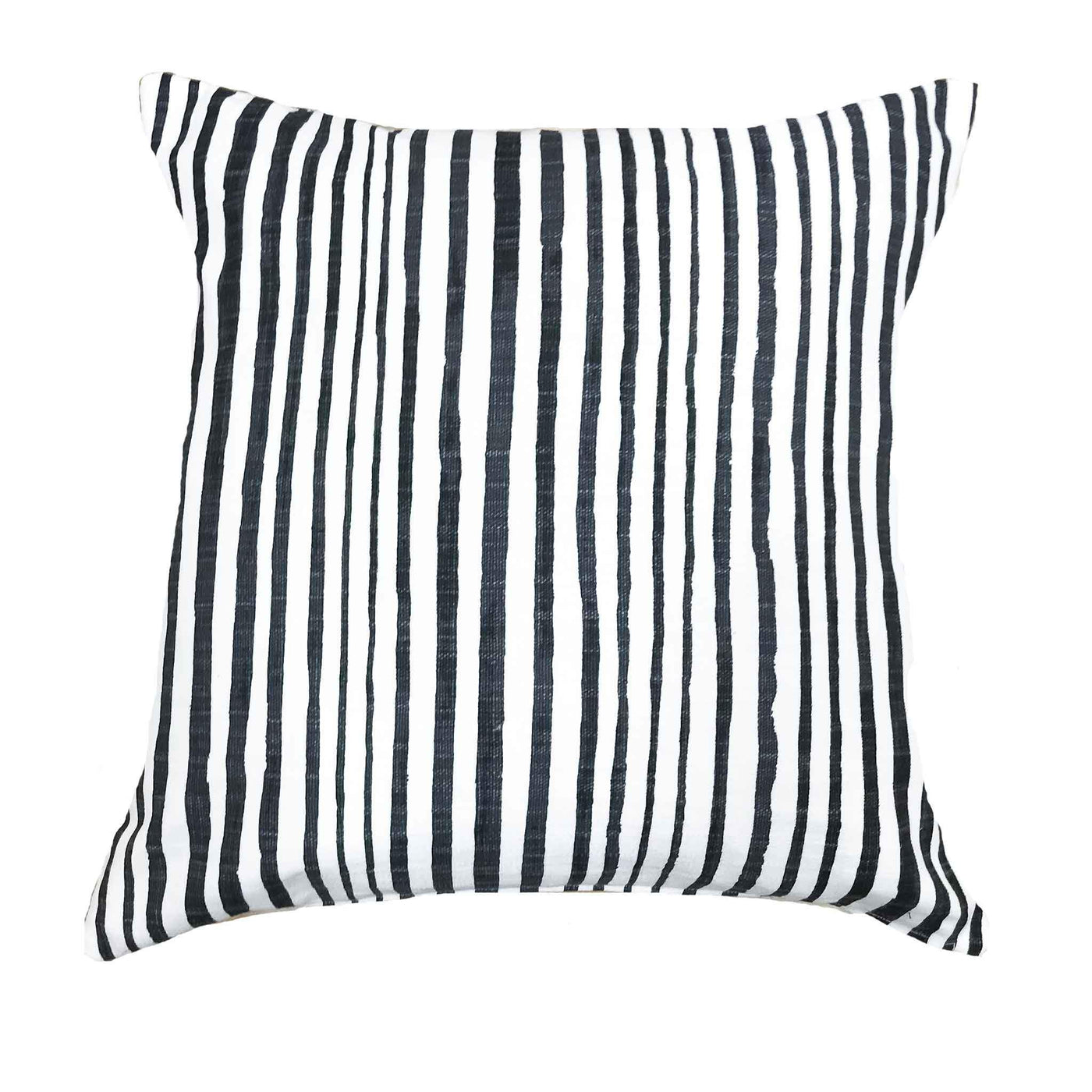 Luxe linen black and white stripe pillows - DIEGO - Studio Pillows