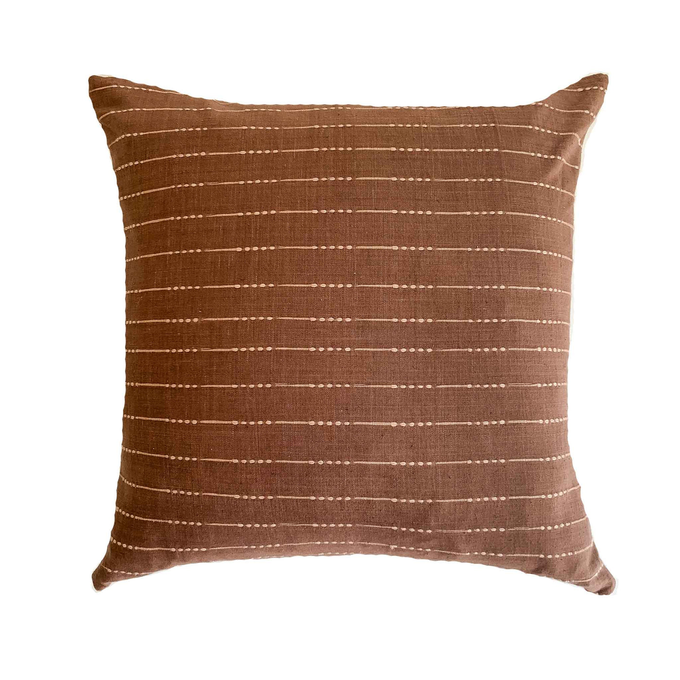 Brown Boho Hmong Batik Pillow Cover - - Studio Pillows