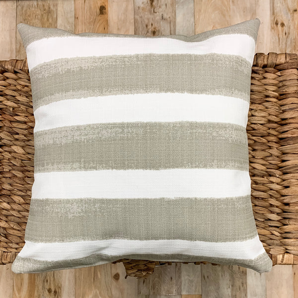 Classic striped outdoor pillows you'll love - Studio Pillows