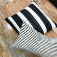 Classic black and white outdoor pillows - ACE - Studio Pillows