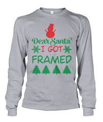 Christmas Santa Sweatshirt - I Got Framed Unisex Long Sleeve