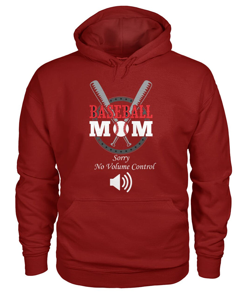 Baseball Mom No Volume Control Hoodie Unisex Hoodie