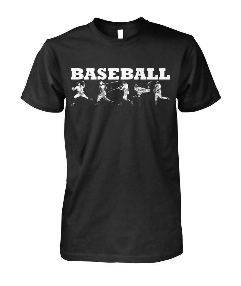 Baseball Action Shirt Darker Colors