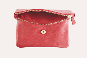 Kiko Leather - Red Flap Clutch