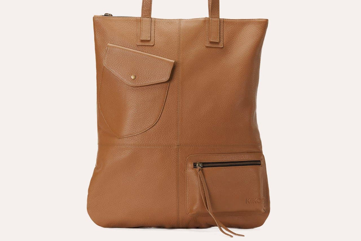 Kiko Leather - Olive Fold n Hold Tote Bag