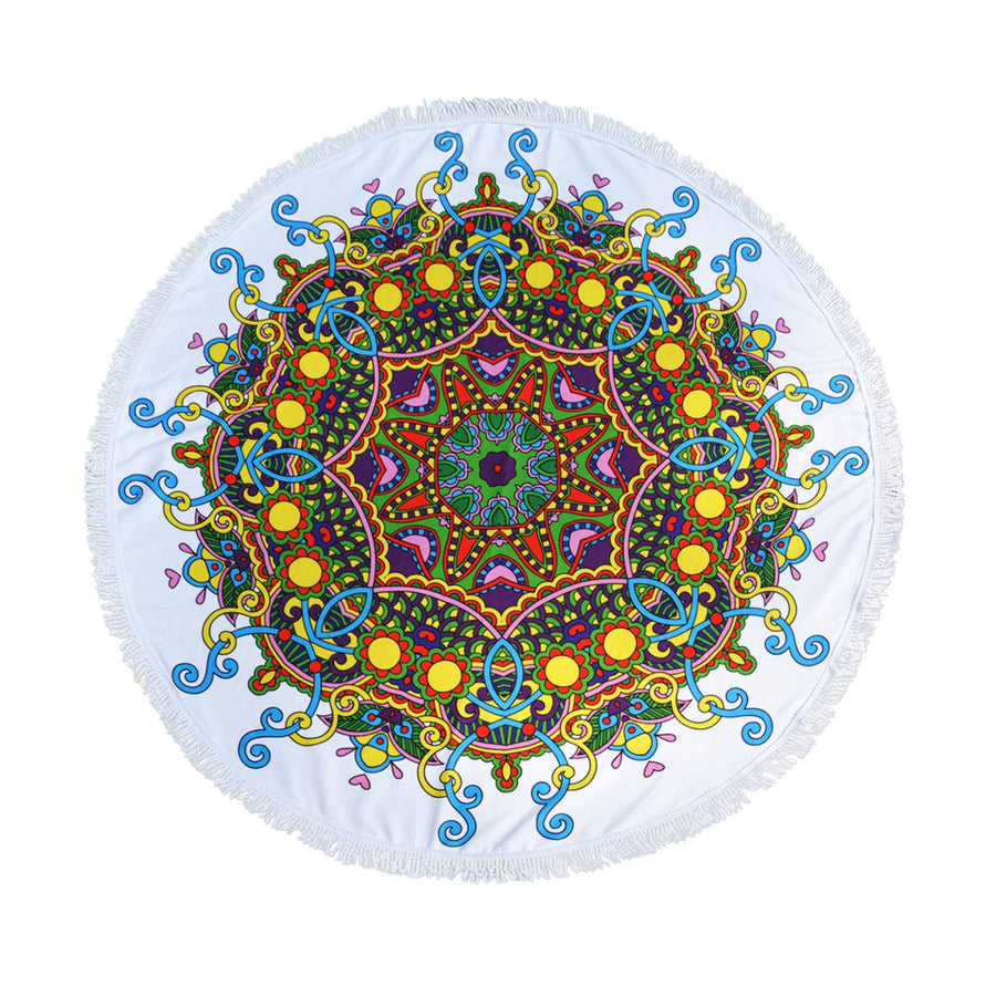 "RainCaper - Izzy & Roo Beach-a-Round 60"" diameter Cotton Beach Towel"