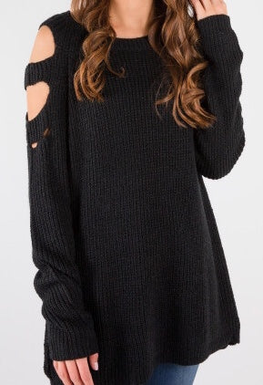 Knit-Sweater-with-Peekaboo-arms