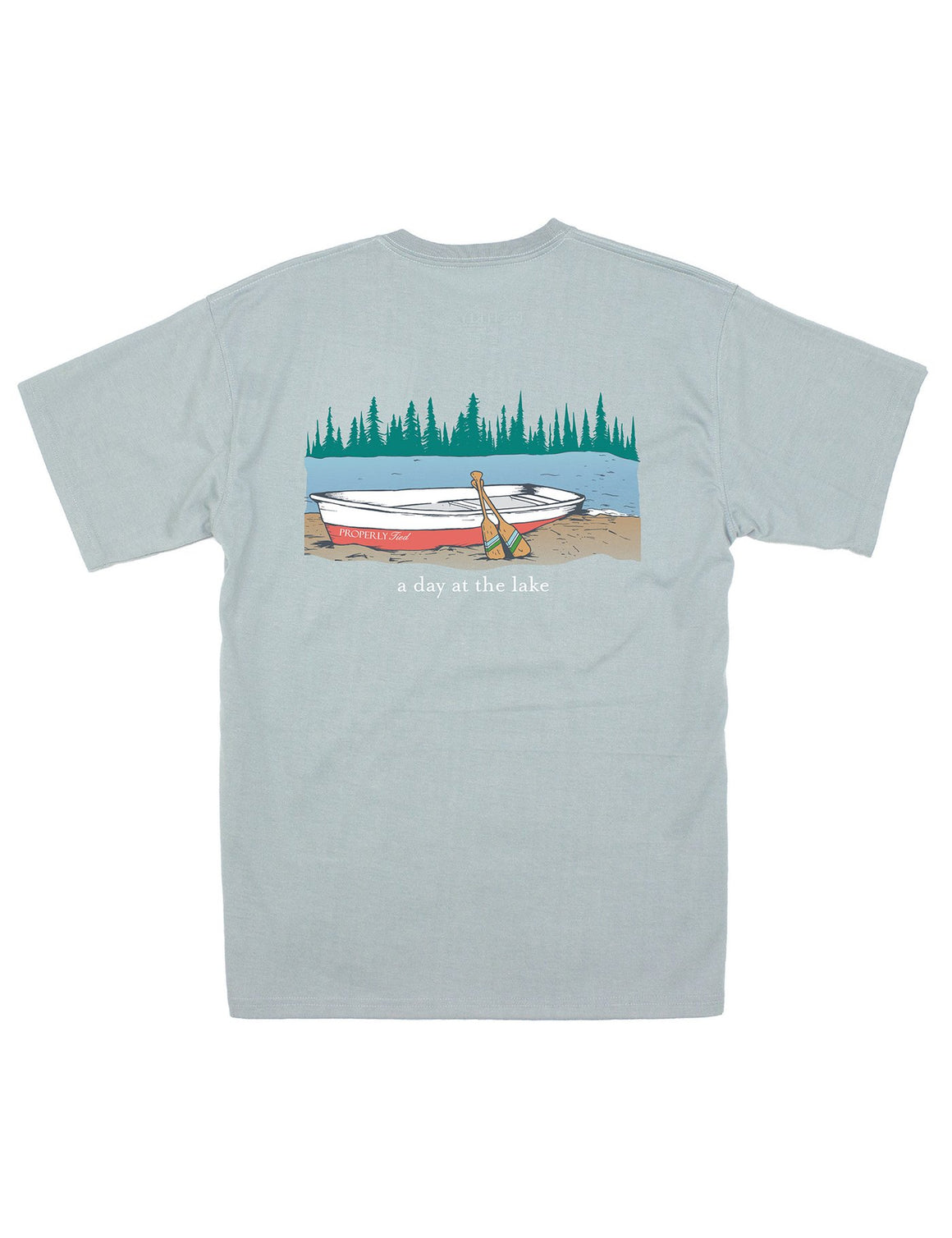 A Day at the Lake SS TShirt - Grey Properly Tied