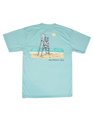 Lifeguard Stand SS Seafoam T-shirt -  Properly Tied