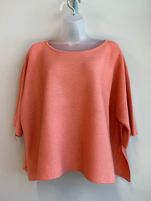 Favorite Crop Sweater w/ Wide Short Sleeve