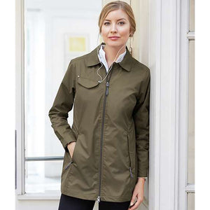 Lightweight Jacket w/Fold Down Collar and Adjustable Waist