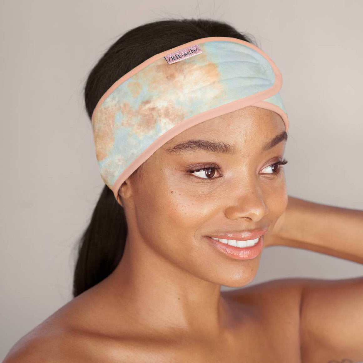 KITSCH - Microfiber Spa Headband - Sunset Tie Dye