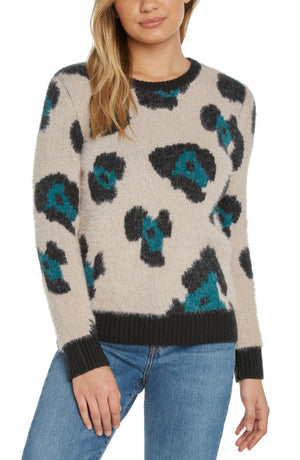 Willow - Leopard Intarisia Knit Sweater