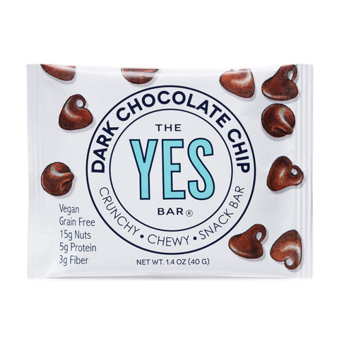YES BAR - WORLD'S BEST TASTING SNACK BAR™ - Vegan Dark Chocolate Chip - Plant-Based, Gluten-Free, Paleo