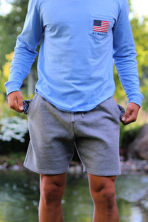 BURLEBO - Dark Gray Fleece Shorts