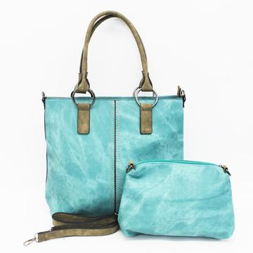 2 Piece Tote Set Green - TRESKA