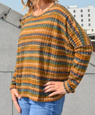 Fluffy-Stripe-Western-Boho-Chic-Sweatshirt