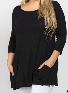 Jersey-Knit-tunic---Cute-and-Curvy---Black