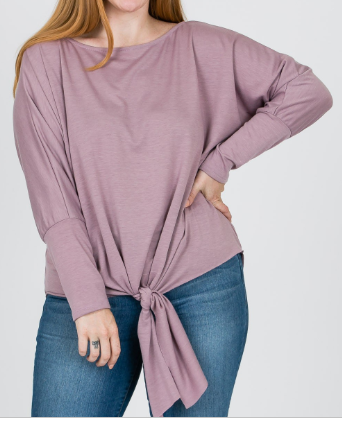 PLUS-SIZE-FRENCH-TERRY-TIE-FRONT-TOP---Color-Plum