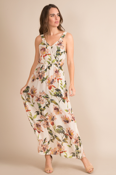 Hisbiscus Hula Maxi Dress