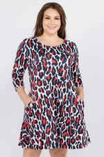 Leopard Print A-Line Dress - Reg & Plus