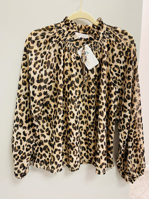 Animal Print Blouse - by Karlie