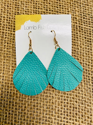 LF Leather Turquoise Earrings
