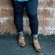 Leopard Slip On Ankle Boot