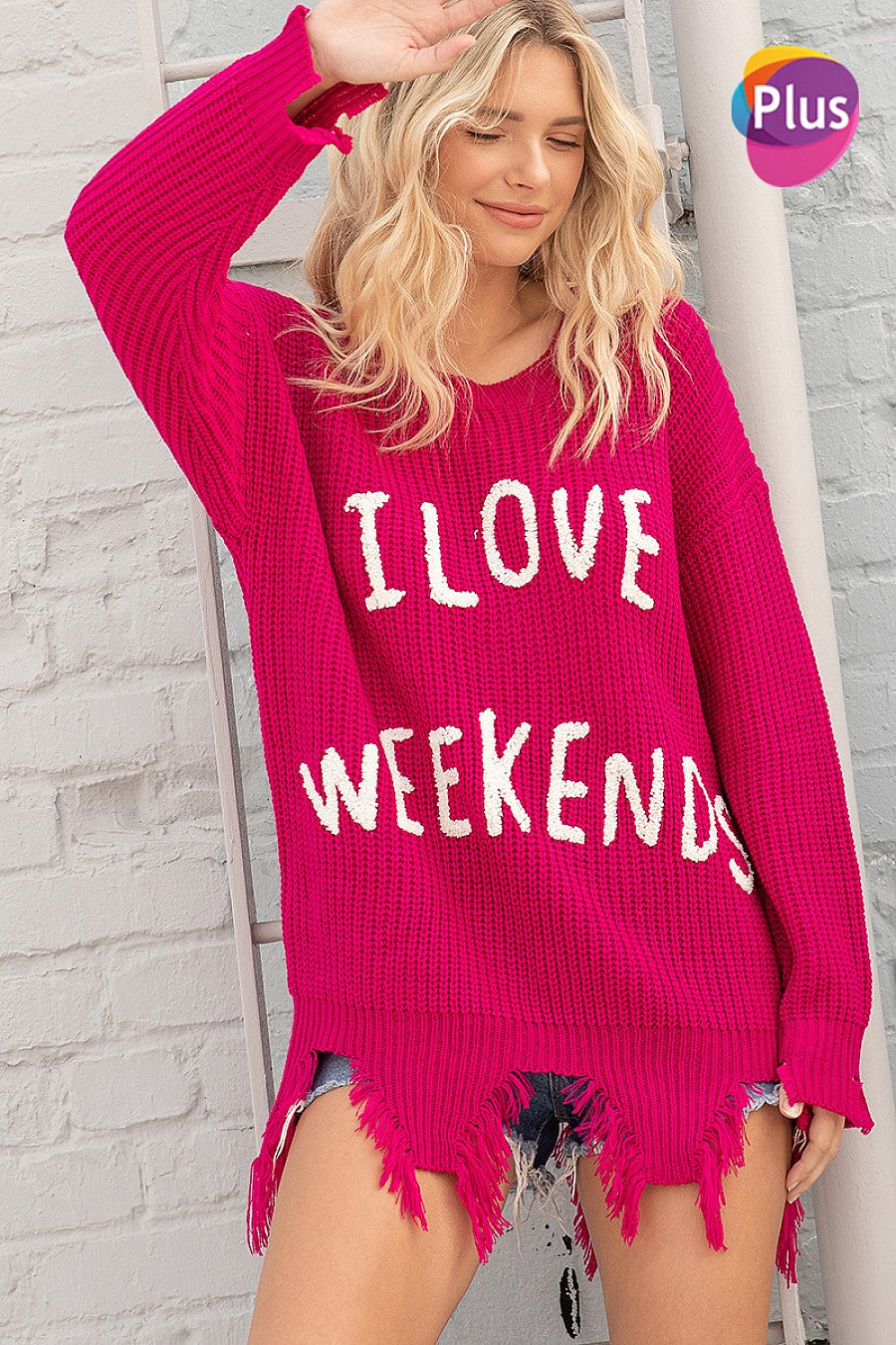 I LOVE WEEKENDS Sweater