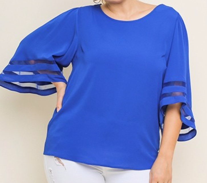 Flare Sleeve Top - Umgee