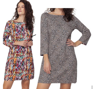 Cairo Reversible 3/4 Sleeve Dress   (Isle by Melis Kozan)