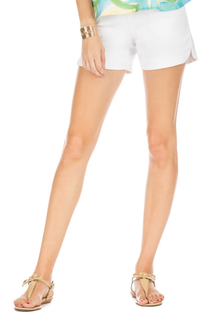 Shorts with Round Side Hem - JadeMelodyTam