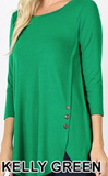 Top-with-3/4-Sleeve-with-Side-Buttons