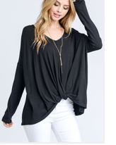 TWISTED-FRONT-V-NECK-TOP