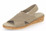 "CrissCross-Comfortable-1""-wedge-heel-sandal---Color-Linen-Charleston-Shoe-Co"